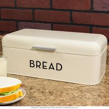 retro kitchen canisters countertop canisters canister sets bake shop ivory cream metal bread box