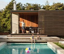 a pool house with a difference