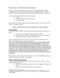 A Good Introduction For An Essay Example Thematic Essay U2013 Writing Your Essay S Introduction
