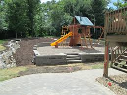Stone Paver Patio Ideas by Congenial Pea Gravel Patio With Firepit With Outdoor Furniture How