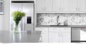 White Glass Metal MODERN BACKSPLASH TILE For Contemporary To - Metal backsplash