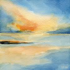 cape cod sunset seascape painting painting by beverly brown prints