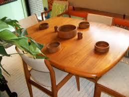Teak Dining Room Furniture by An Orange Moon Teak D Scan Dining Room Table U0026 Chairs