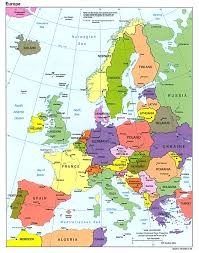 a map of europe with countries europe map cities and countries travel maps and major tourist