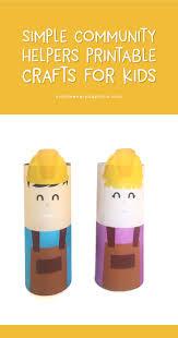 an easy u0026 fun community helpers printable craft to teach kids