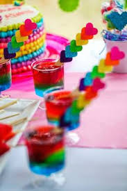 Rainbow Themed Birthday Favors by Rainbow Ideas Rainbow Food Decorations And