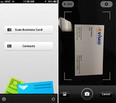 App For Scanning Business Cards Zoho Business Card Scanner App For Iphone Viwo