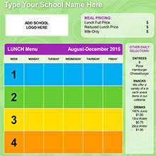 lunch menu template free k 12 bell institute of health and nutrition