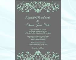 wedding invitations minted diy mint green and gray wedding invitations templates printable