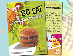 Mcdonalds Invitation Card Pamphlet 10 Graphic Design Bloemfontein