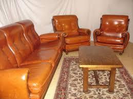 canape cuir et bois achetez canapé cuir vintage occasion annonce vente à lubin