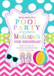 Invitation Card Example Pool Party Invitations Dhavalthakur Com