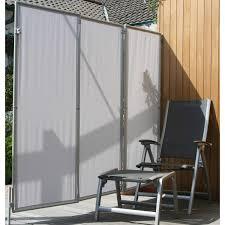 paravent holz garten floracord paravent sicht und windschutz hell silbergrau 210 cm x