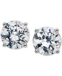 diamond stud diamond stud earrings 3 4 ct t w in 14k white gold or gold