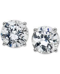 diamond stud earings diamond stud earrings 3 4 ct t w in 14k white gold or gold