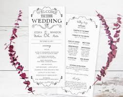 wedding program format diy wedding program etsy