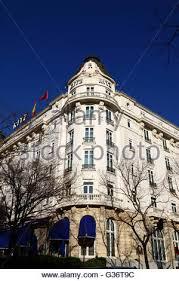 Winter Garden Courthouse - palace hotel madrid spain winter garden rotonda stock photo