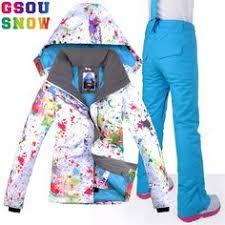 gsou snow new ski suits for women winter waterproof ski jacket