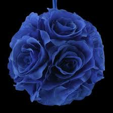 blue roses for sale 6 navy blue flower pomander small wedding for
