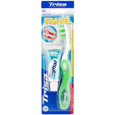 travel toothbrush images Trisa travel toothbrush with toothpaste toothbrushes for adults jpg