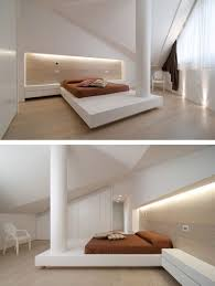 Furniture In A Bedroom A Bedroom In This Italian Home Has A Column In The Middle Of The