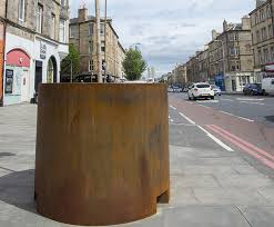 corten steel street planters for edinburgh council iota esi