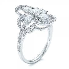 flower engagement rings custom flower engagement ring 102341
