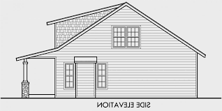large bungalow house plans house side elevation view for 10128 bungalow house plans 1 5 story