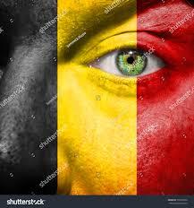 Belgian Flag Belgian Flag Painted On Mans Face Stock Photo 150518966 Shutterstock