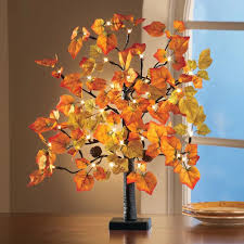 lighted table top maple leaf tree autumn fall harvest thanksgiving