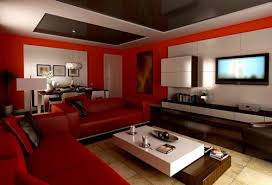 several basic ideas furnishing with lovely red lounge furniture