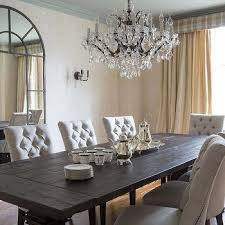 Linen Tufted Dining Chairs Transitional Dining Room Flax Design - Grey dining room furniture