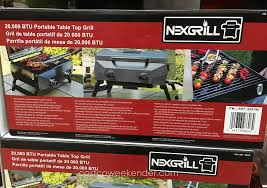 costco fold up table nexgrill 20 000 btu portable table top grill costco weekender