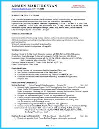 Crystal Report Resume How Professional Database Developer Resume Must Be Written