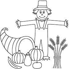 happy thanksgiving bubble letters scarecrow coloring pages turkeys with scarecrow coloring page