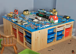 building table with storage organize your kids toys with storage ideas home design