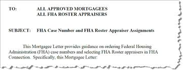 Hud Reo Appraisal Mortgagee Letter appraisal scoop new fha mortgagee letter 2010 15 fha number