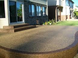 exposed aggregate concrete patio u2013 outdoor ideas