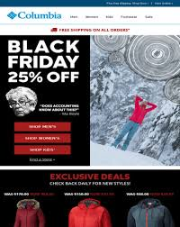 columbia black friday deals columbia sportswear black friday 25 off exclusive deals