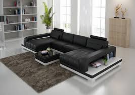 Leather Sectional Sofa With Chaise Double Chaise Sectional Sofas Type And Finishing Homesfeed