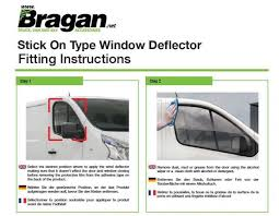 si e auto pour b to fit 2002 2014 renault trafic smoked window deflectors