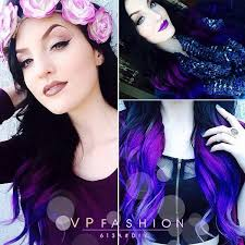 flesh color hair trend 2015 new hair mixed half manic panic vire red and half purple haze