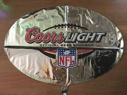 coors light party ball coors light nfl set of 2 34 balloon super bowl party decorations