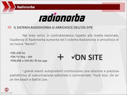 si e social air radionorba il sistema radionorba on air fm on tv sky dtt ppt