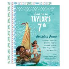 moana oceania birthday card zazzle