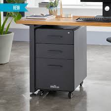 Standing Desk With Drawers by File Cabinet Varidesk Standing Desks