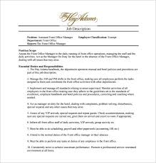 office assistant job description template 9 free word pdf