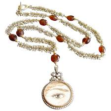 seed necklace images Victorian pearl mourning locket seed pearl hessonite garnet jpeg