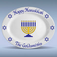 hanukkah plate personalized oval hanukkah platter 13 chanukah oh hanukkah