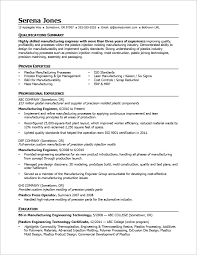 Example Resume Engineer by View This Sample Resume For A Midlevel Manufacturing Engineer To